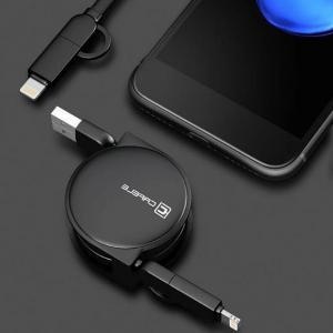 Telescopic Extension Retractable USB Cable for Android Iphone -