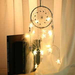 DIY Valentine's Day Gift Stars Lights String Dream Catcher -
