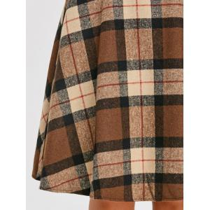 High Waist Plaid A Line Skirt -