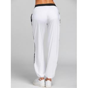 Drawstring Color Block Yoga Pants -