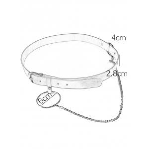 Pin Buckle Large Hoop Chain Wide Belt -