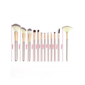 Ombre Hair 12Pcs Makeup Brushes Set with Cosmetic Bag -