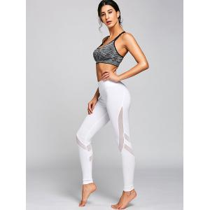 High Rise Workout Leggings with Mesh Panel -