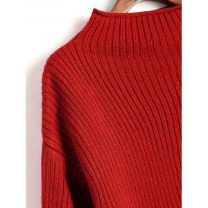 Lantern Sleeve Plain Pullover Sweater -