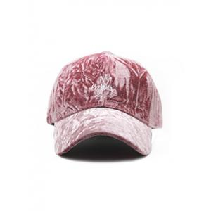 Velvet Baseball Hat with Yoy Crown Embroidery -