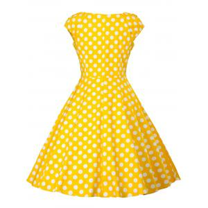 Vintage Polka Dot Skater Dress -