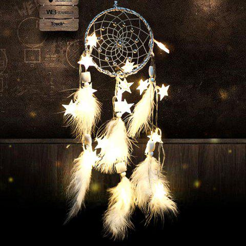 Discount DIY Valentine's Day Gift Stars Lights String Dream Catcher