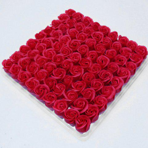 Sale 81 Pcs Artificial Soap Rose Flowers In A Box Valentine's Day Gift