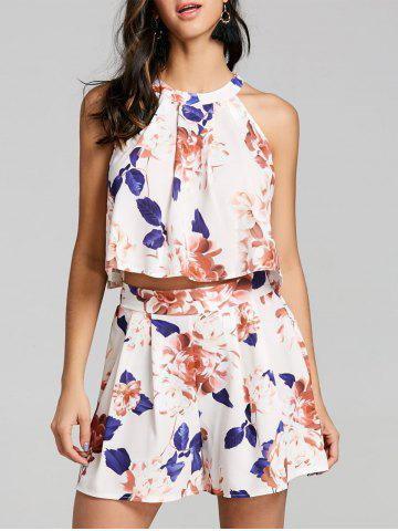 Hot Floral Two Piece Shorts Set
