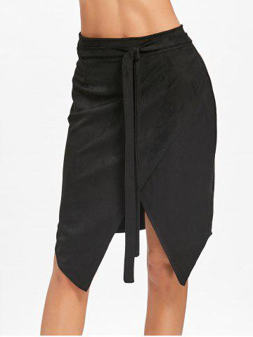 Fashion Asymmetric High Waisted Wrap Skirt