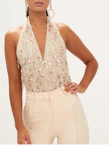 Halter Sequin Insert Body