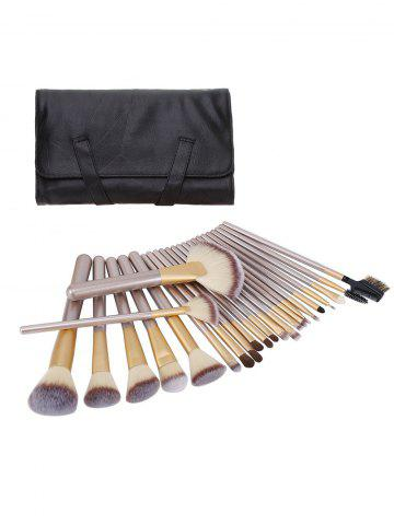 Online Ombre Hair 24Pcs Makeup Brushes Set With Cosmetic Bag