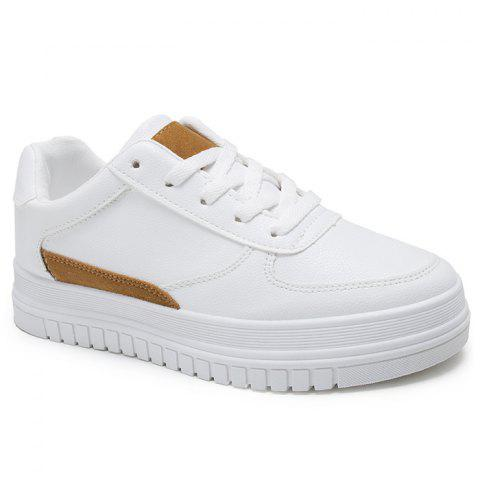 Best PU Leather Color Block Skate Shoes