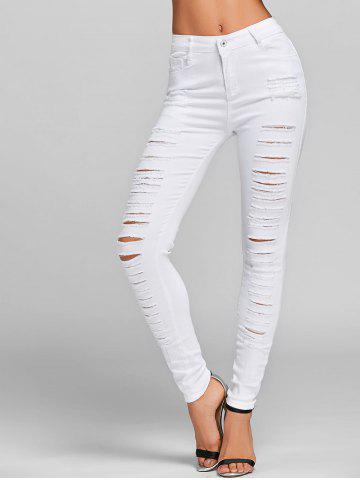 Shop Distressed Skinny Jeans