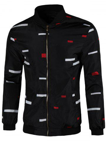 Outfits Color Block Zip Up Jacket
