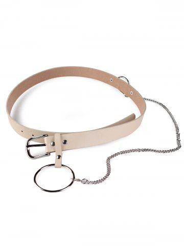 Affordable Pin Buckle Large Hoop Chain Wide Belt