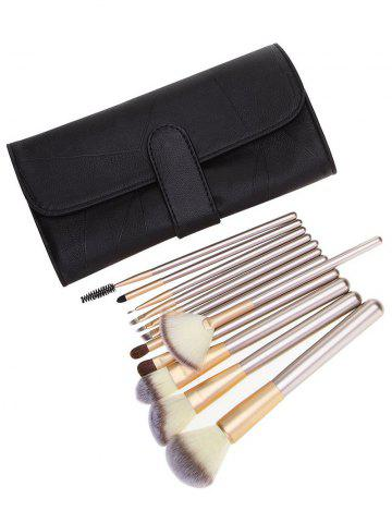 Outfits Ombre Hair 12Pcs Makeup Brushes Set with Cosmetic Bag