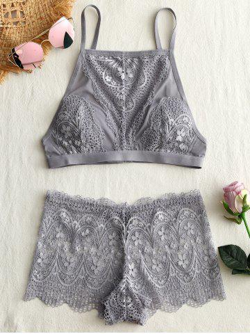 Store Mesh Lace Sheer Bra Set