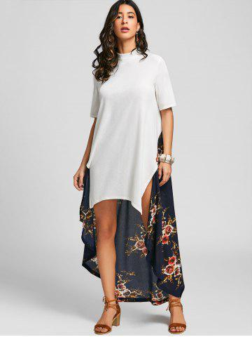 High Low Floral Tail Maxi Dress