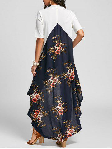 Cheap High Low Floral Tail Maxi Dress