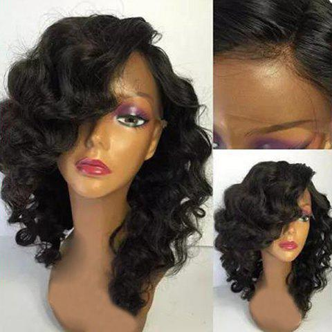 Chic Medium Side Parting Shaggy Body Wave Lace Front Synthetic Wig