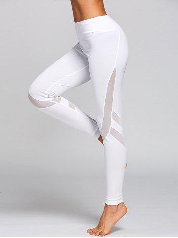 Online High Rise Workout Leggings with Mesh Panel