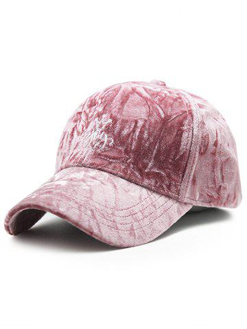 Buy Velvet Baseball Hat with Yoy Crown Embroidery