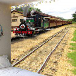 Train Print Waterproof Wall Hanging Tapestry -