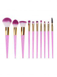 10Pcs Ombre Hair Makeup Brushes Set -