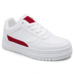 PU Leather Color Block Skate Shoes -