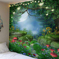 Fantastic Mushroom Forest Print Bedroom Decor Hanging Tapestry -