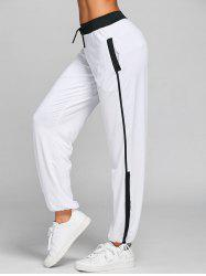 Drawstring Two Tone Yoga Pants -