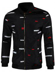 Color Block Zip Up Jacket -