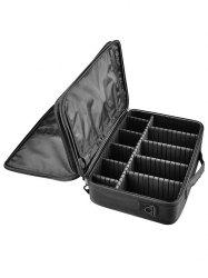 Multi-functional Layered Partition Cosmetic Bag -