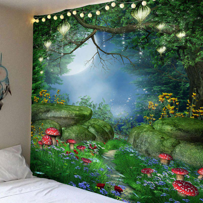 Cheap Fantastic Mushroom Forest Print Bedroom Decor Hanging Tapestry