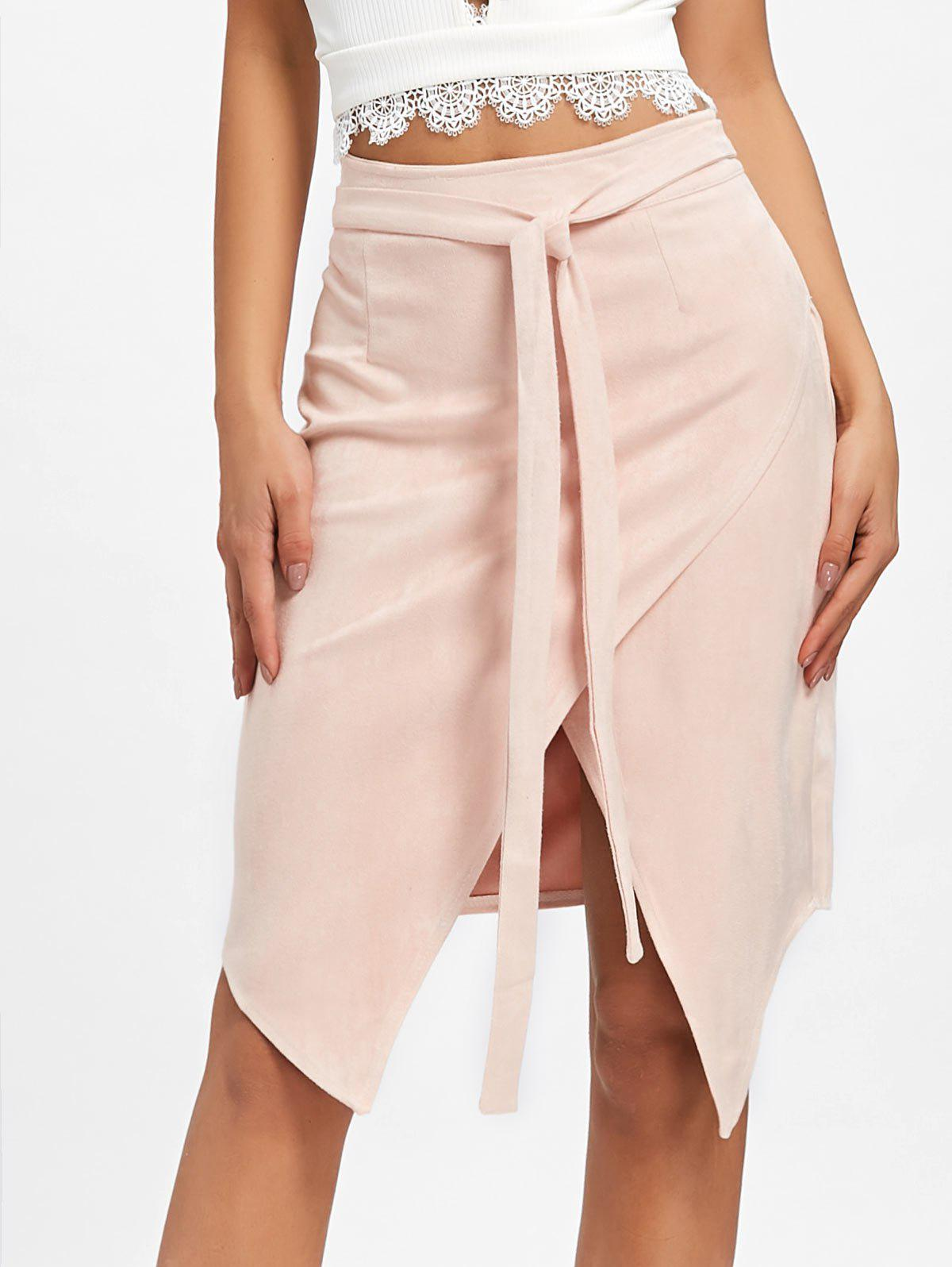 Best Asymmetric High Waisted Wrap Skirt