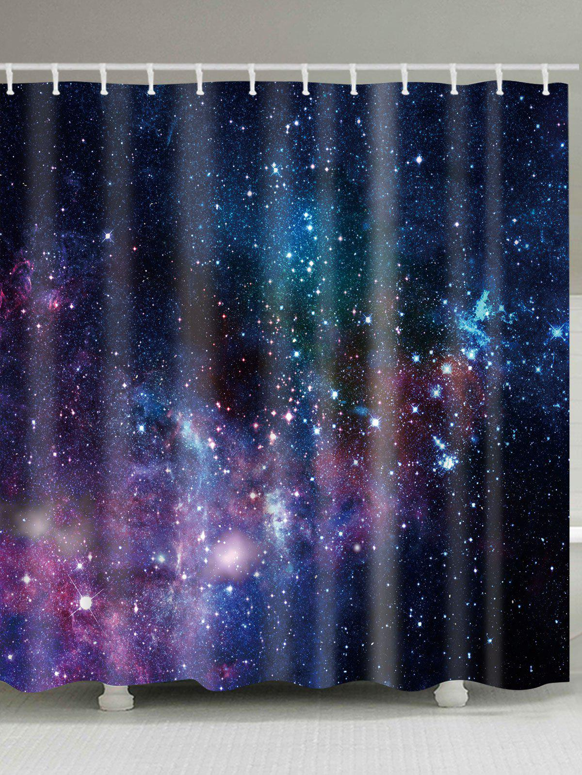 Galaxy Print Waterproof Fabric Bathroom Shower Curtain