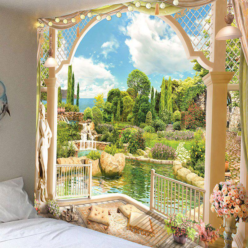 Perfect Shops Garden Printed Waterproof Wall Hanging Tapestry