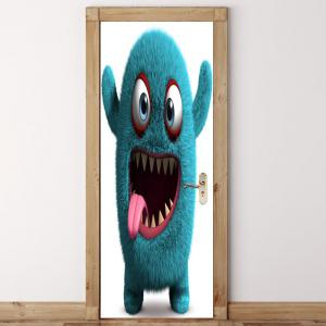 Gluttonous Monster Patterned Door Stickers -