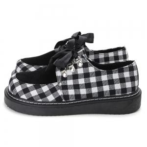 Color Block Plaid Casual Shoes -