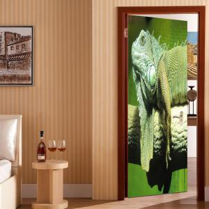 Environmental Chameleon Printed Removable Door Stickers -