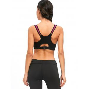 Racerback Zipper Workout Bra -
