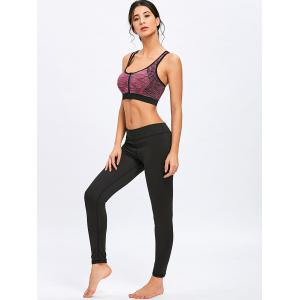 Sports Marled Front Zip Bra -