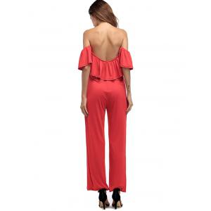 Ruffled Off The Shoulder Wide Leg Jumpsuit -