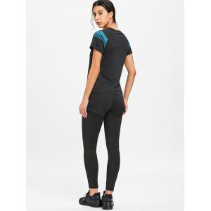 Shorts et leggings à rayures T-shirt de sport -