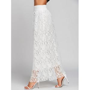 Lace High Waist Maxi Skirt -