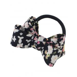 Flower Bowknot Embellished Elastic Hair Band -