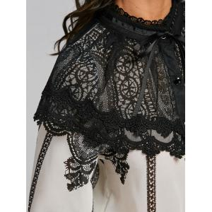 Lace Panel Chiffon Blouse -