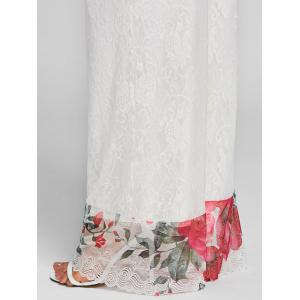 Floral Lace High Rise Palazzo Pants -