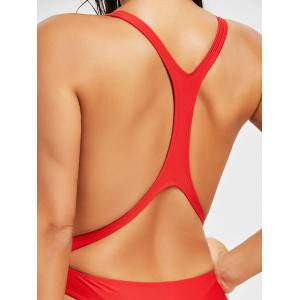 Monokini Backless High Leg Swimsuit -